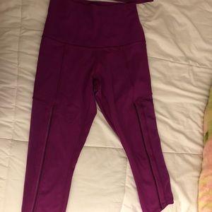 Lululemon High Waisted cropped leggings size 4